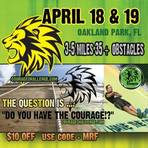 Courage Challenge Free Entry Giveaway for April 18th & 19th event!