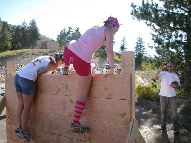 Conquering the 4, 6 and 8 foot walls at mud runs